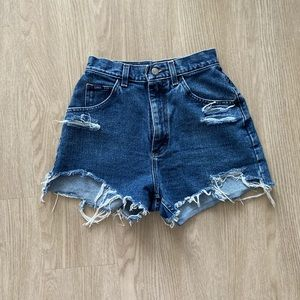 Lee vintage high waisted distressed shorts
